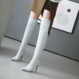 Denim Stiletto Heel Women's Over The Knee Boots