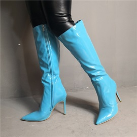 Pointed Toe Side Zipper Sexy Knee Boots
