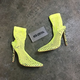 Stiletto Heel Pointed Toe Hasp Western Boots
