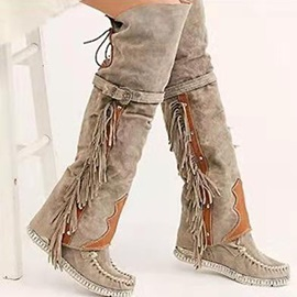 Lace-Up Back Flat With Round Toe Sweet Boots