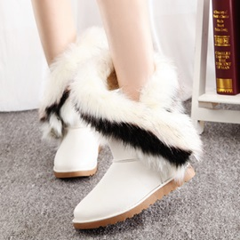 Dynamic Furry Round Toe Women's Snow Boots