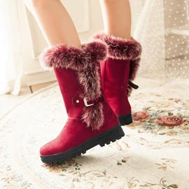 Purfle Suede Slip-On Snow Boots