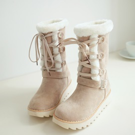Purfle Suede Lace-Up Snow Boots