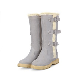 Pufle Round Toe Zippered Snow Boots