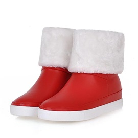 PU Fold Over Slip-On Snow Boots