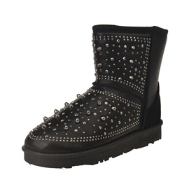 Studded Slip-On Snow Boots