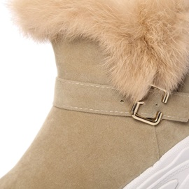 Round Toe Slip-On Women's Snow Boots