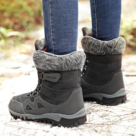 Round Toe Lace-Up Front Platform Women's Winter Boots