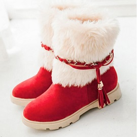 Round Toe Slip-On Patchwork Casual Snow Boots
