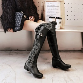 Round Toe Hasp Plain Casual Snow Boots