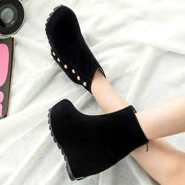 Beaded Suede Elevator Heel Booties