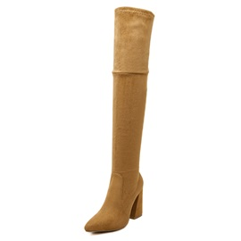 Suede Side  Women's Thigh High Boots