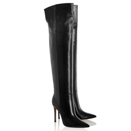 Over-the-Knee Pointed Toe Stiletto Heel Boots