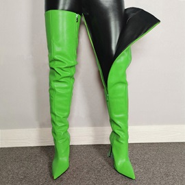 Plain Pointed Toe Side Zipper Sexy Boots
