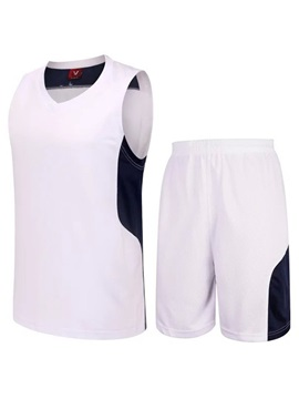 Men's Patchwork Run Basketball Sleeveless Outfit