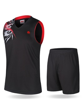 Stylish Ventilate Short Sleeves Printed Outdoor Basketball Uniform Outfit