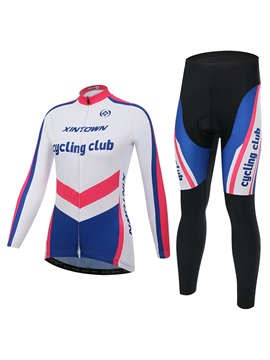 Polyester Women Long-Sleeve Bike Jersey And Pant
