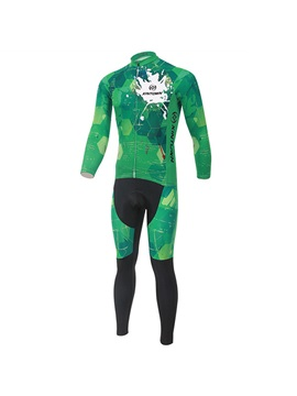 Green Long-Sleeve Quick-Drying Outfit