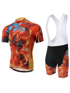 Polyester Animal-Print Women Cycling Outfit