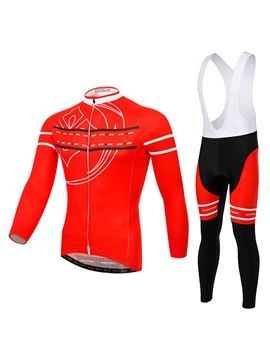 Red Full-Zip Cycle Jersey And Bib Shorts