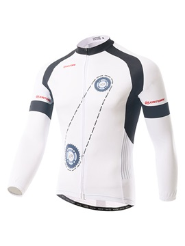 Gear-Print Rear Pockets Men's Bike Jersey