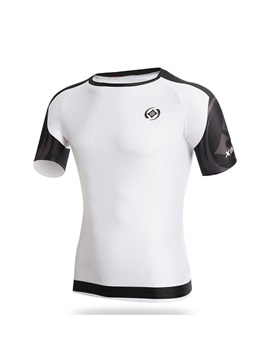 White Raglan-Sleeve Summer Cycle Jersey