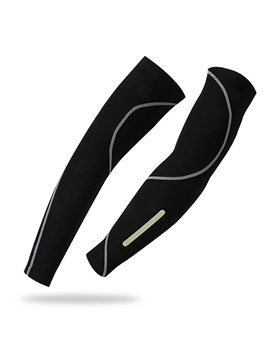 Sun-Protective Black Bike Sun Sleeves