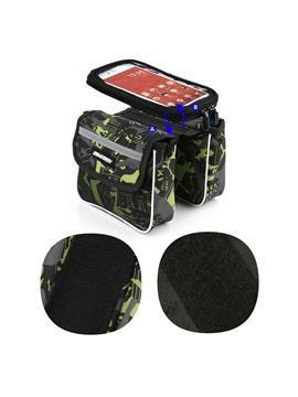 Waterproof Front Top Tube Phone Screen Touch Bicycle Bag