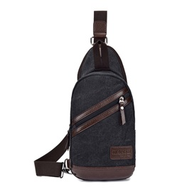 Lightweight Canvas Zipper Chest Pack