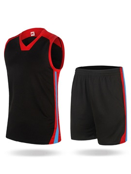 Fashion Ventilate Stripe Men's Outdoor Basketball Outfit