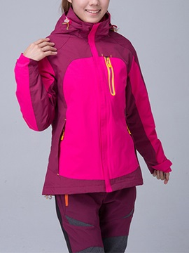 Breathable Thermal Two-Piece Women's Outdoor Windbreaker