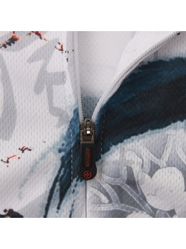 Chinese Style-Print Short-Sleeve Cycling Jersey And Pant