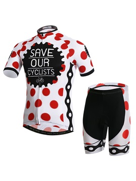 Polka Dots Short-Sleeve Jersey And Shorts