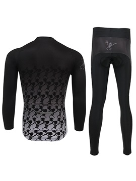 Form-Fitting Full-Length Zipper Bike Outfit