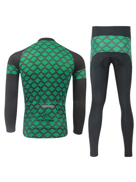 Green Plaid Long-Sleeve Jersey And Pant