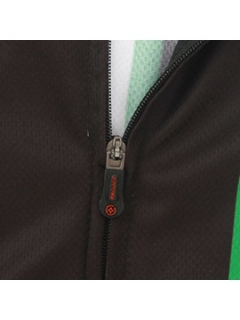 Polyester Black Full-Zip Cycling Outfit