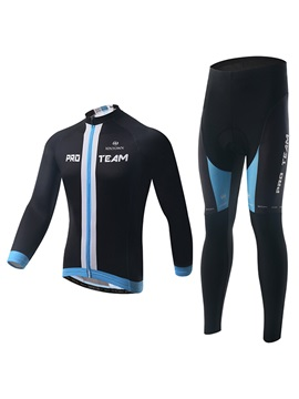 Contrasting-Trim Full-Zip Cycling Outfit