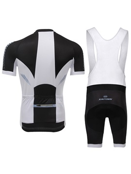 Polyester Color-Block Cycle Jersey And Bib Shorts