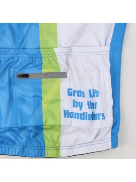 Polyester Short-Sleeve Basic Cycling Jersey And Shorts