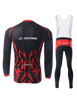 Tattoo-Print Long-Sleeve Cycle Jersey And Bib Tights