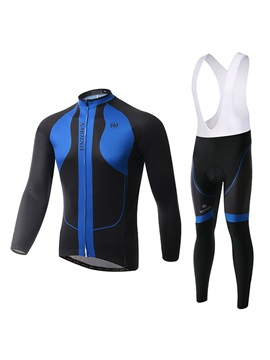 Contrasting Color Cycling Jersey And Bib Pant