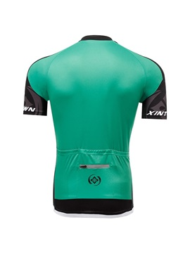 Polyester Green Short-Sleeve Sports Jersey