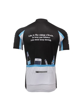 Letters And Bikers-Print Men's Cycle Jersey