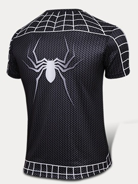 Lycra Spider-Printed Men's Cycle Tee