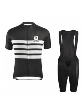 Full-Zip Colored Men's Bike Jersey & Bib Shorts