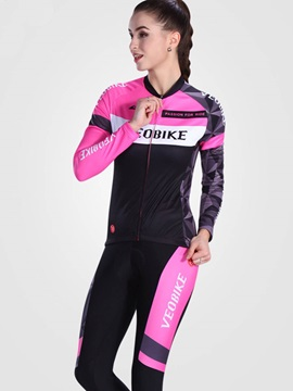 Lycra Breathable Long Sleeve Floral Printed Women Cycling Suit