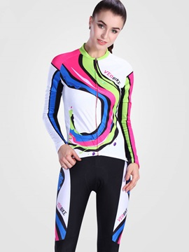 Breathable Snug-fitting Fast Drying Long Sleeve Women Cycling Suit
