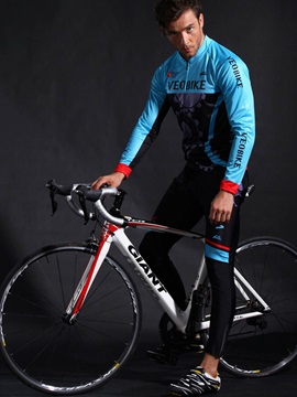Lycra Quick Drying Long Sleeve Silica Gel Cushion Cycling Outfit