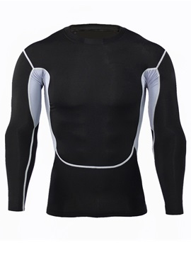 Pullover Long Sleeve Quick Dry Men's Sports T-shirt