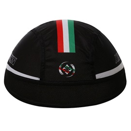Solid Black Moisture-Wicking Cycle Cap